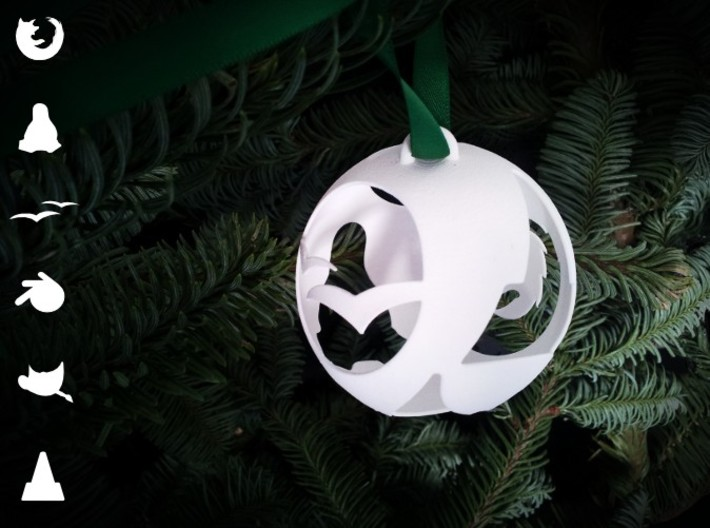 Open Source Christmas Ornament 3d printed Open Source Christmas Ornament in a Christmas Tree
