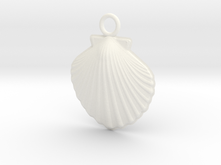 Scallop Earring 3d printed