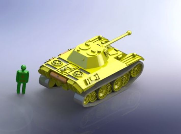 "German VK 16.02 ""Leopard"" Recon. Tank 1/285 6mm 3d printed Add a caption..."