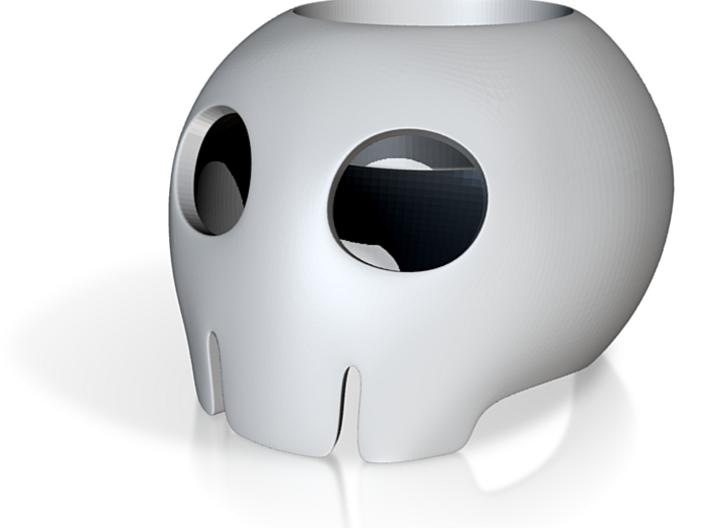 Toon Skull Tea Light Holder 3d printed