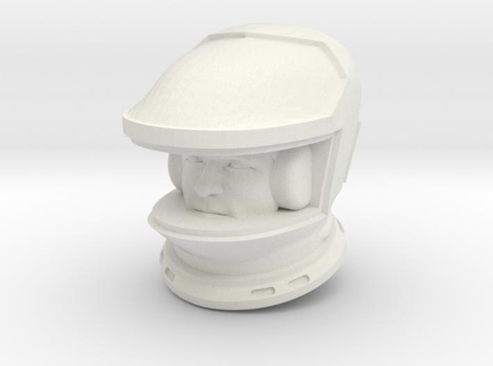 2001 Lunar Astronaut / Helmet/Face / 1:24 3d printed