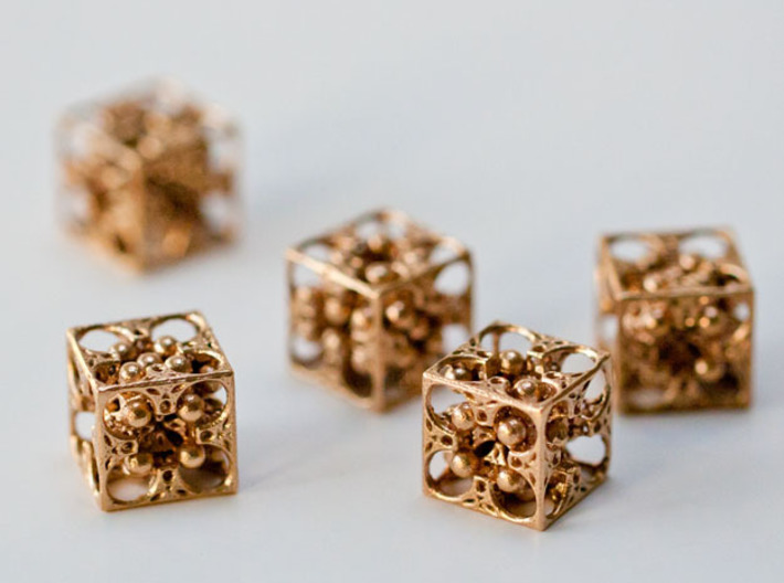 GOD's DICE - Pendant / Earring / Dice - 14mm 3d printed