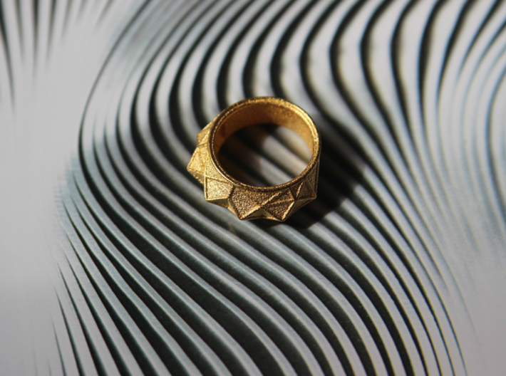 """Hearst Tower"" Architecture fantasy Ring 3d printed"