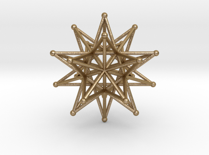 Stellated Icosahedron 40mm Sacred Geometry 3d printed