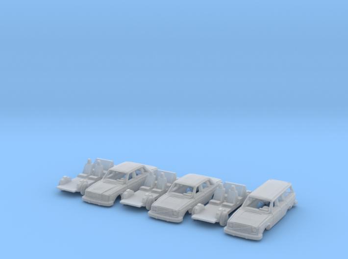 SET 3x Volvo 200 Series (TT 1:120) 3d printed