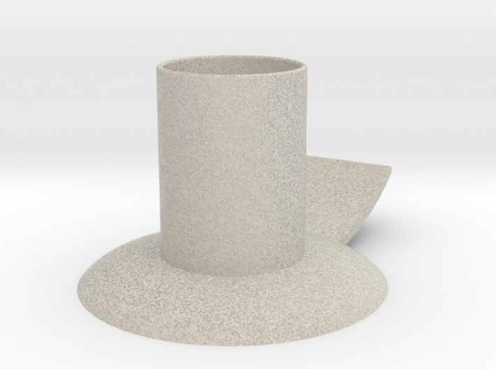 Candle holder with handle full version ø 21 mm 3d printed