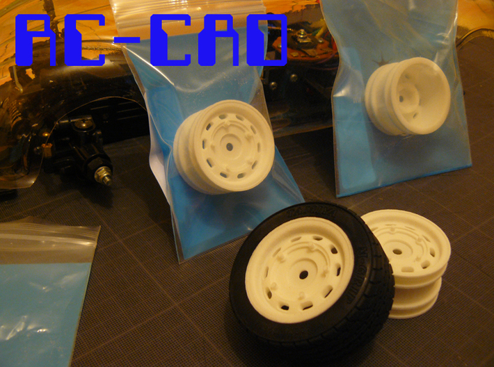 Porsche 356 rims for M-chassis 3d printed