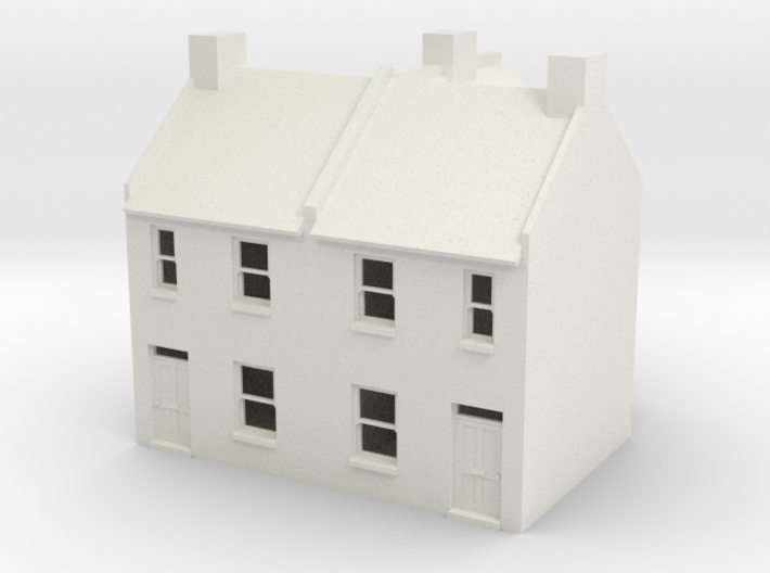 Small Terraced Houses - 4mm 3d printed