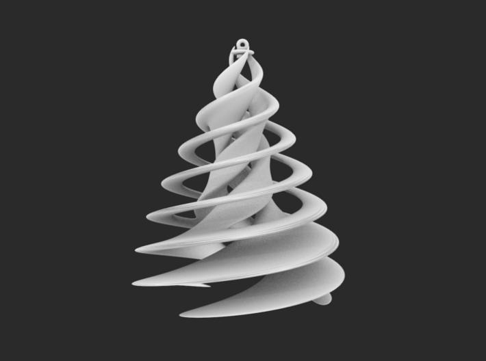 Swirl Tree Ornament 3d printed