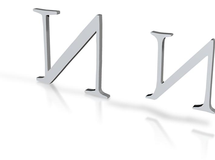 n letter 3d printed