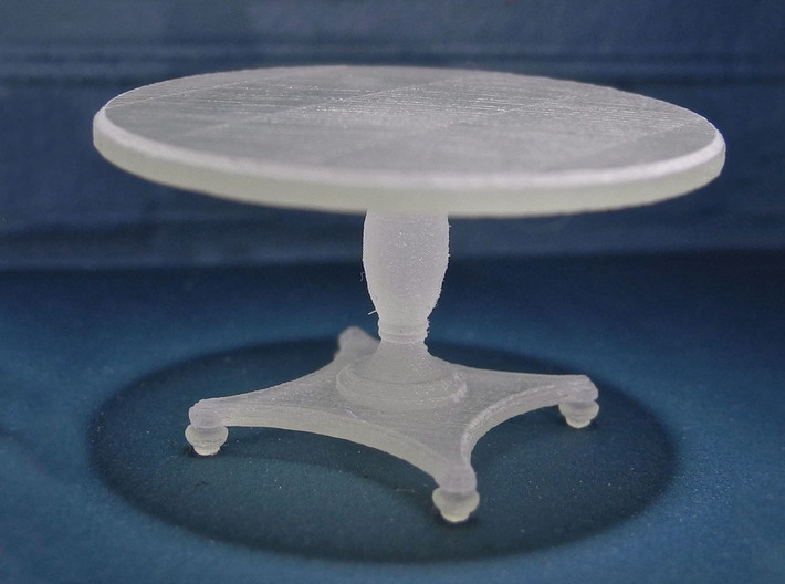 1:48 Round Colonial Dining Table 3d printed