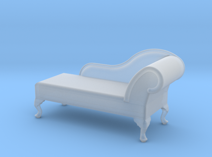 1:48 Queen Anne Chaise (Left Facing) 3d printed