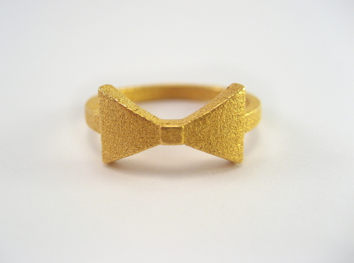 Bow Tie Ring (Size 7) 3d printed