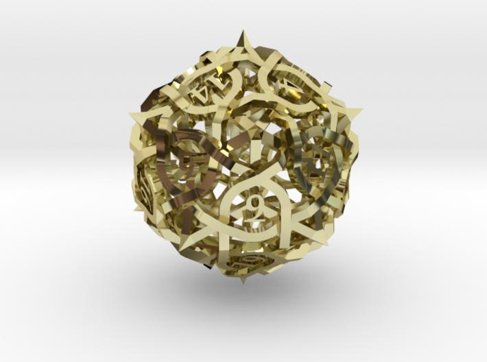Thorn d20 Ornament 3d printed