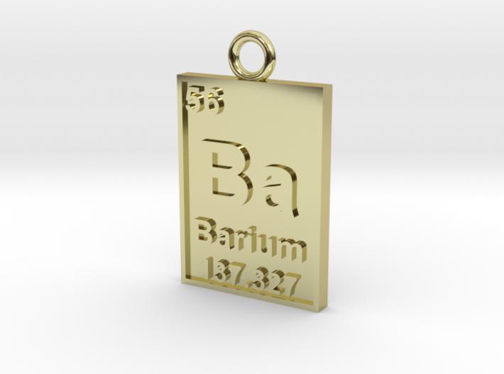 Barium Periodic Table Pendant 3d printed