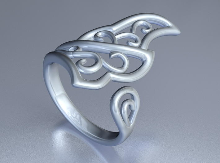 Kaya's Ring 3d printed