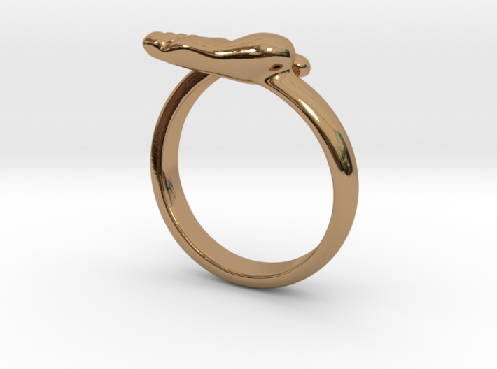 Newborn baby foot ring 3d printed