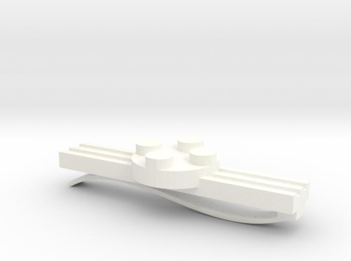 Brick Tie Clip- 4 Stud Type II 3d printed