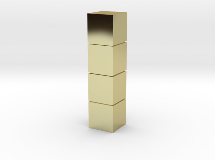 Tower of Pimps (Brass/Gold) 3d printed