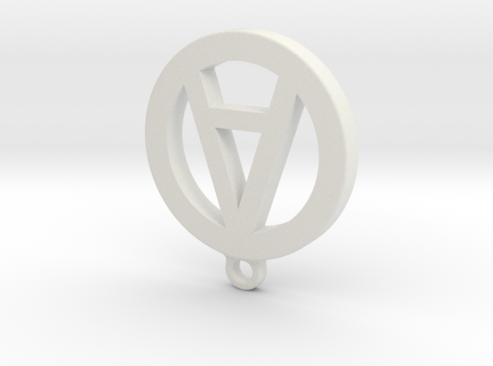 """Necklace Charm - Letter """"A"""" 3d printed"""