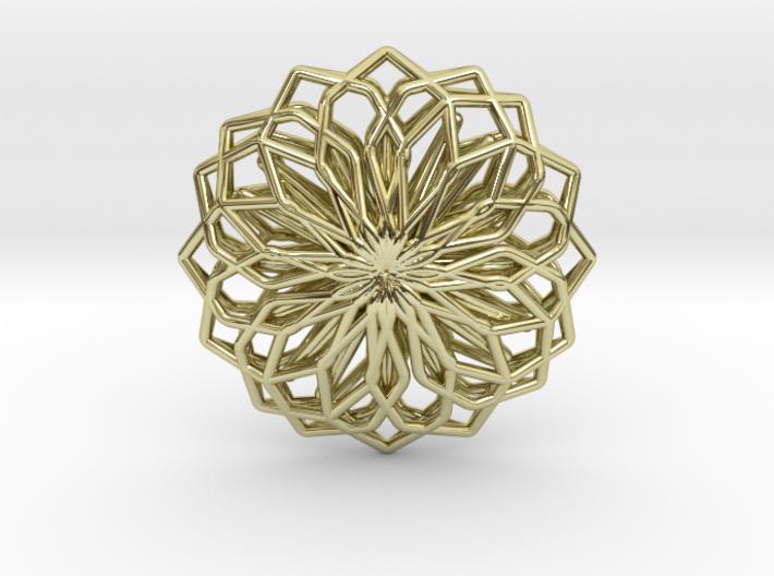 A-LINE Lotus, Pendant 3d printed