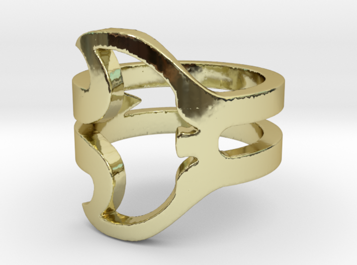 Manta Ray Ring 3d printed