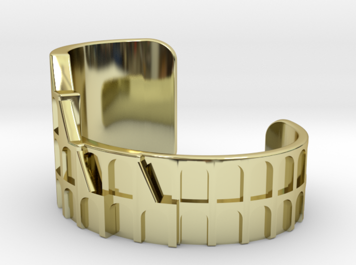 Colosseum Bracelet Size Medium (Metal Version) 3d printed