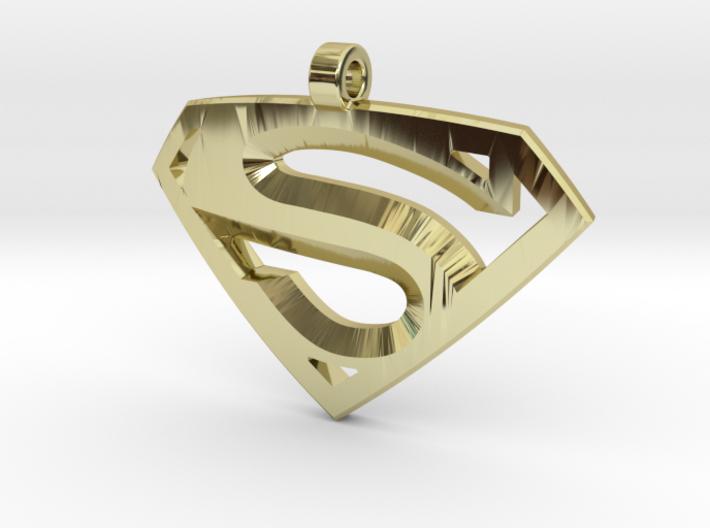 Superman Medallion 3d printed
