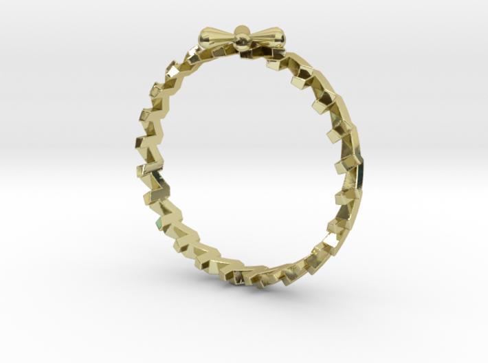 24 Caret Gold Ring (55mm) 3d printed