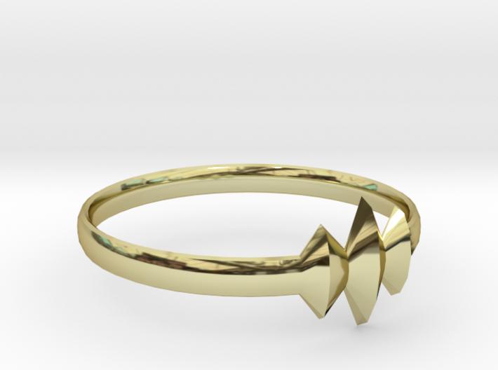 Elleve Ring US Size 8 UK Size Q 3d printed