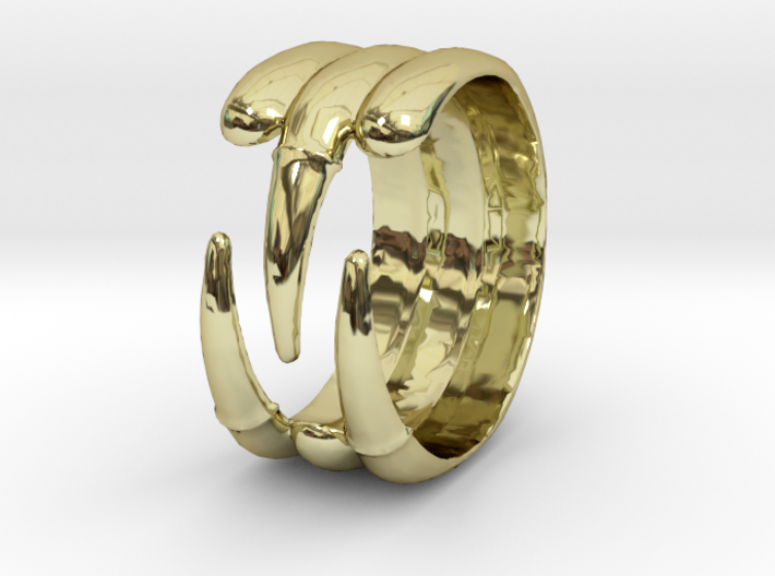 Claw Ring - Sz. 5 3d printed