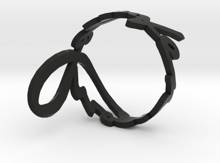 John Lennon's signature cuff 3d printed