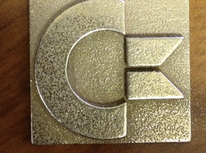 Commodore Logo 3d printed Stainless Steel