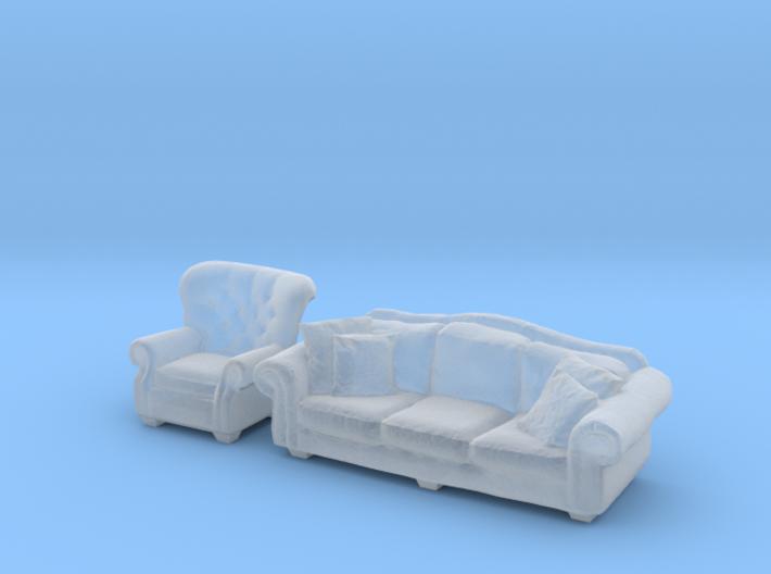 1:144 Sofa Set 3d printed