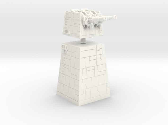 TURBOLASER TOWER BIG 1/270 3d printed