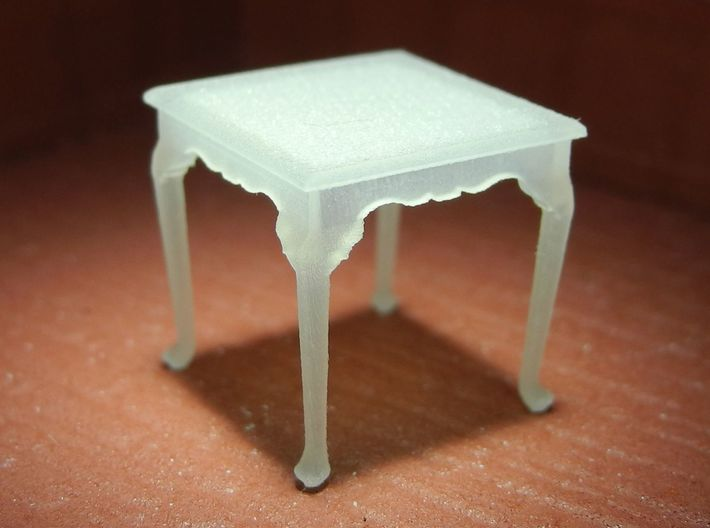 1:48 Queen Anne Table, Square 3d printed