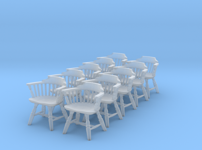 1:48 Windsor Low Back Chair (Set of 10) 3d printed