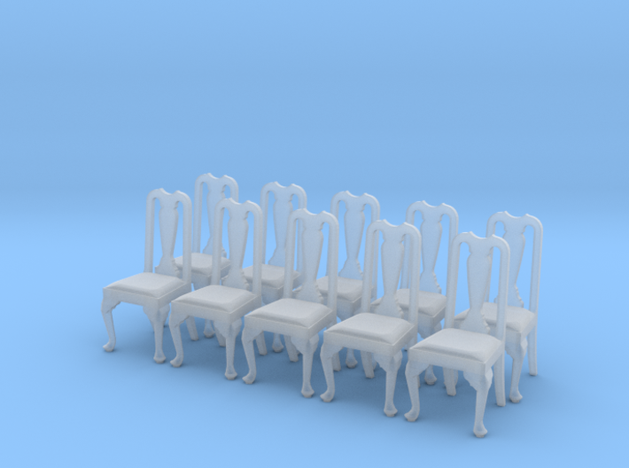 1:48 Queen Anne Chair (Set of 10) 3d printed
