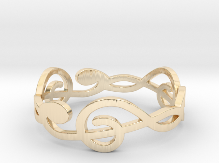 Size 8 G-Clef Ring A 3d printed