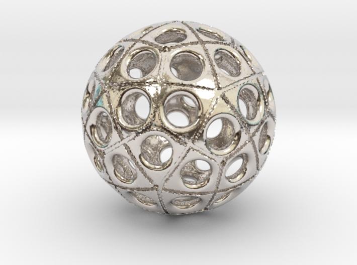 60-hole ball 3d printed