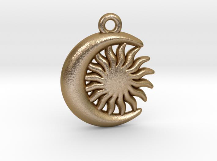 Sun&Moon Pendant 3d printed