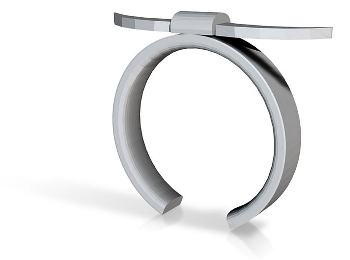 Bull Horn Ring - Sz.6 3d printed