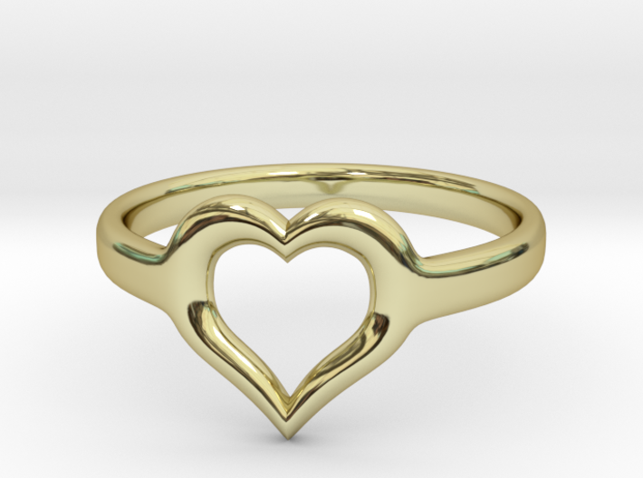 Heart Ring Size 7 3d printed
