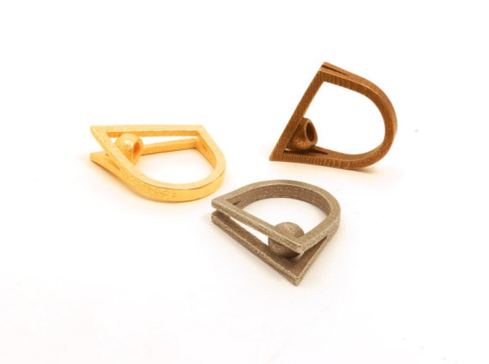 Peekaboo Ring 3d printed