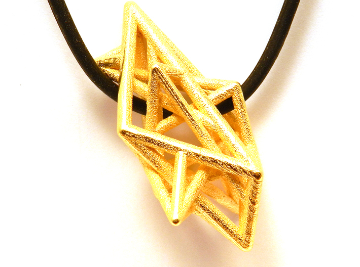 Angular Complexity Necklace 3d printed