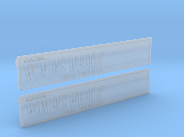Fascia Ad Panels for Sydney P Class Tram O Gauge 3d printed