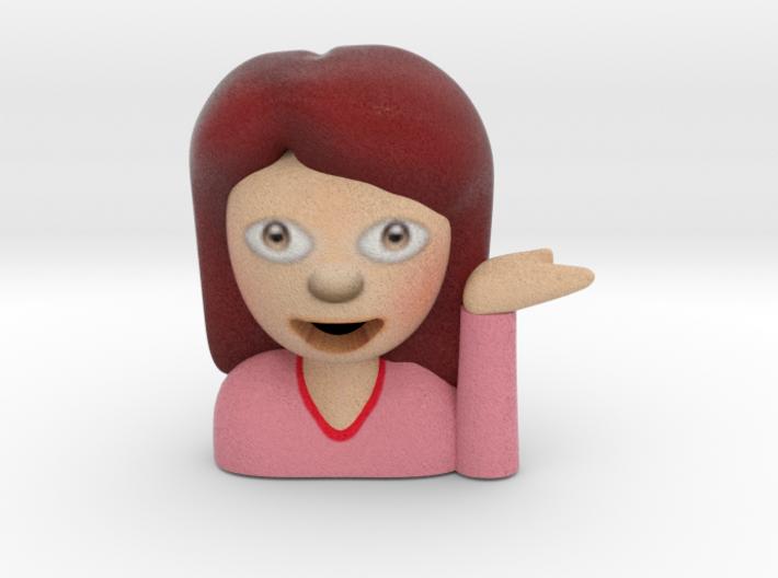 Sassy Girl Emoji figurine 3d printed