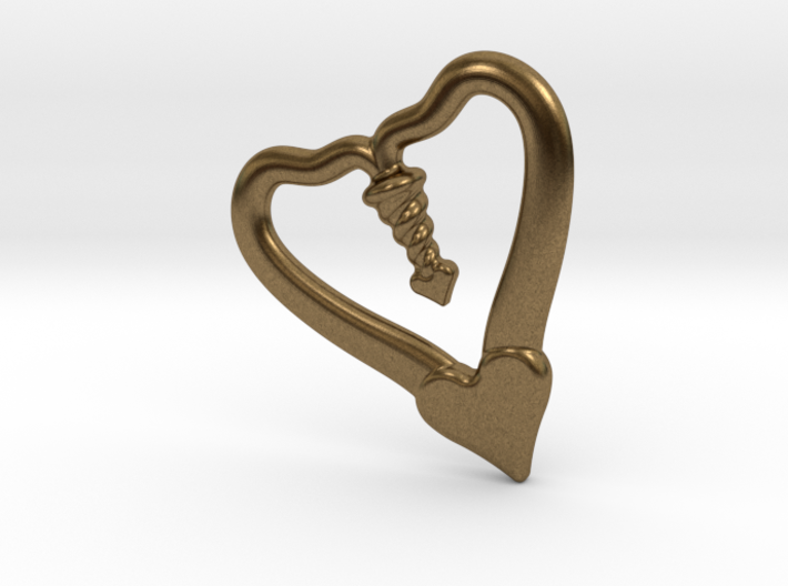 TWO HEARTS ONE LOVE 3d printed