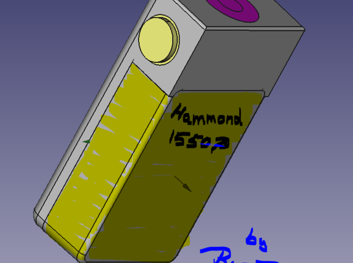 1550P BoxMod-Extension V1 3d printed Hammond 1550P added by magnets very easily and strong.