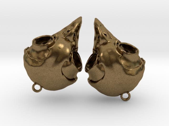 Screech Owl Skull Earrings (one pair - a set of 2) 3d printed